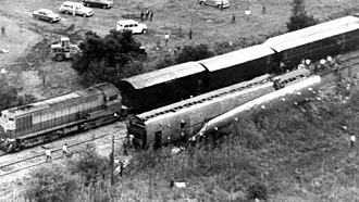 Benavidez rail disaster - Crashed and derailed trains