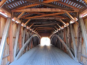 Adairs Covered Bridge - Image: Adairs Bridge Interior