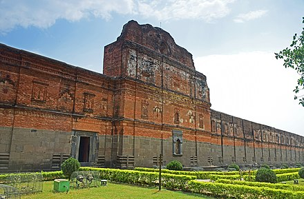 Adina Mosque, once the largest mosque in South Asia, in Pandua, the first capital of the Bengal Sultanate.