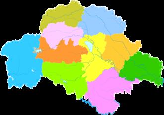 Zhumadian - Image: Administrative Division Zhumadian