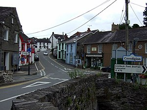 A475 road - Image: Adpar and the county boundary geograph.org.uk 919887