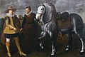 Adriaen van Nieulandt the younger - Prince Maurits with His Horse and Groom - Walters 372507.jpg