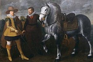 Adriaen van Nieulandt - Image: Adriaen van Nieulandt the younger Prince Maurits with His Horse and Groom Walters 372507