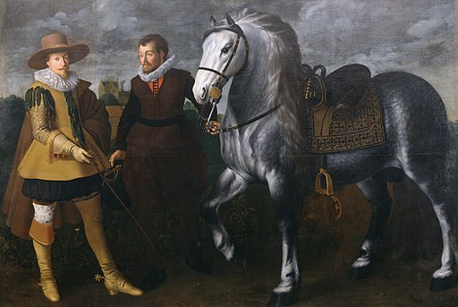 Adriaen van Nieulandt the younger - Prince Maurits with His Horse and Groom - Walters 372507