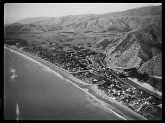 Paekakariki - Image: Aerial view of Paekakariki, Kapiti Coast, ca 1920s 1940s