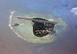 Aerial view of Yongxing Island (Woody Island), the seat of Sansha