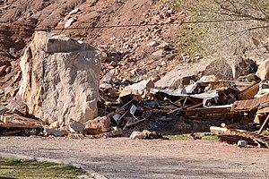 Rockville, Utah - Aftermath of the Rockville rockslide