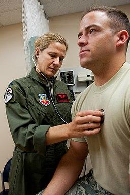 Airmen perform flight medicine exams 120502-F-YG608-005