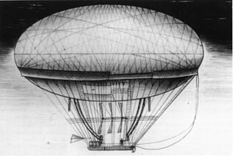Jean Baptiste Meusnier - Meusnier's dirigible
