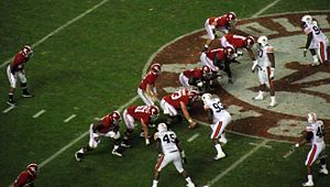 Alabama Crimson Tide football - Alabama on offense against the Tigers in 2010