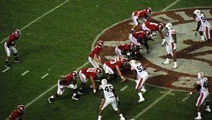 Alabama Crimson Tide football - Alabama on offense against the Tigers in 2010