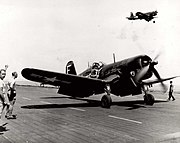 Alan Shepard's 105th Sortie with F4U-4 on USS Franklin D. Roosevelt