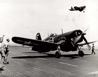 Alan Shepard - Image: Alan Shepard's 105th Sortie with F4U 4 on USS Franklin D. Roosevelt