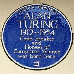 Colonnade Hotel - Alan Turing's blue plaque