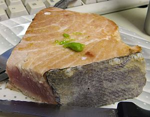 Albacore - Lightly cooked albacore steak