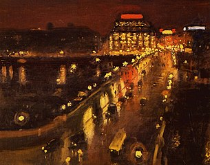 The Pont Neuf and the Samaritaine at night