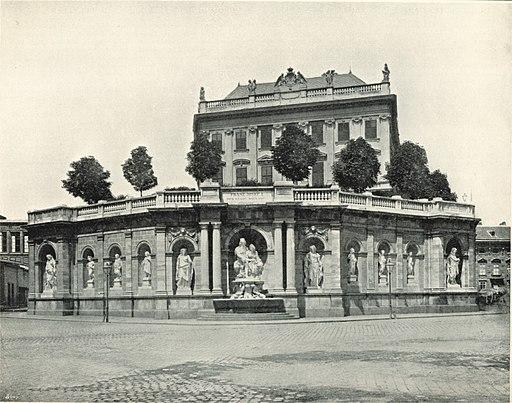 Albertina und Albrechtsbrunnen um 1898