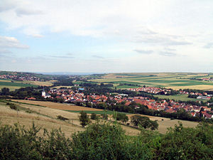 Albisheim - View from wine hill over the village