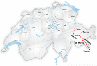Bernina Express route