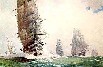 Alexandre Jean-Baptiste Brun - Three-deck Vessel Wing