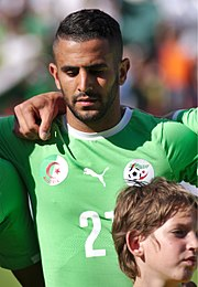 Riyad Mahrez with Algeria in 2014