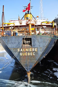 Algoma Central bulk carrier Sauniere moored in the Port de Montréal.jpg