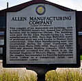 Allen Manufacturing Company- Williamson County Historical Sign.JPG