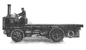 "Steam wagon - Early ""Sentinel"" waggon"