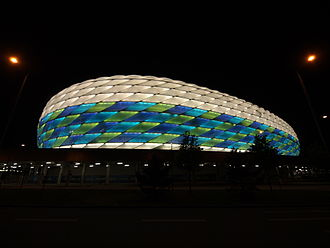 Allianz Arena - Illumination during the UEFA Champions League final 2011–12