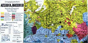 Spiridon Gopčević - Map of Macedonia by Spiridon Gopčević