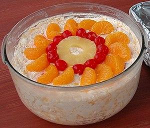 Ambrosia (fruit salad) - Image: Ambrosia salad