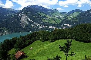 Filzbach - Amden and Walensee seen from Filzbach