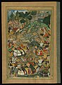Amir Khusraw Dihlavi - Alexander the Great Lassoes an Opponent - Walters W624128A - Full Page.jpg