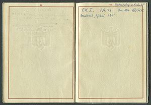 Amtsdokument Paul Fischer 1937 Leutnant Wehrpass Luftwaffe Seite 50 51 Leerseiten für Sonstiges.jpg