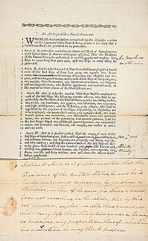 Naval Act of 1794 - The Act to Provide a Naval Armament