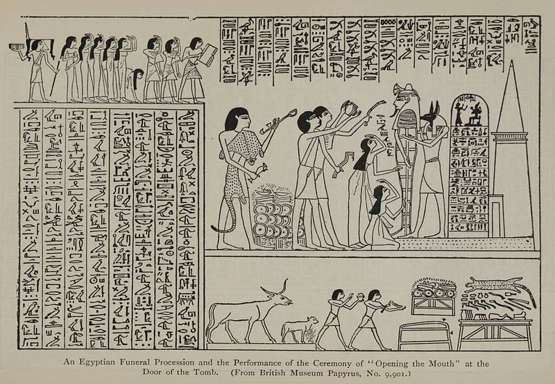the ancient egyptian funeral procession essay Dance in ancient egypt  a vital role in the lives of the ancient egyptians  reed crowns and dances performed when the funeral procession reached the tomb, to.