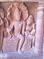 An art on wall depicting lord Vishnu with goddess Lakshmi at Ajanta Caves.jpg