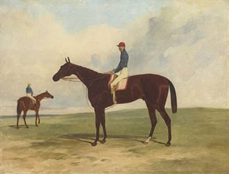 Andover (horse) - Andover and Alfred Day. Painting by Harry Hall.