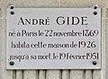André Gide plaque, 1bis rue Vaneau, Paris 7.jpg