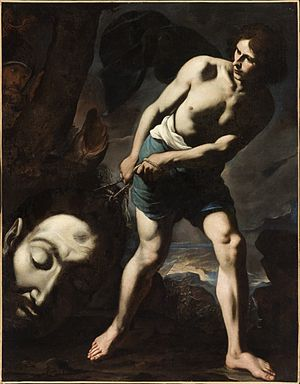 Goliath - David with the Head of Goliath, circa 1635, by Andrea Vaccaro