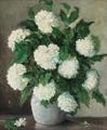 Ane Marie Hansen - Opstilling med hortensia i en keramikkrukke - 1924.png