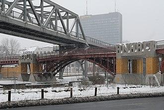 """Berlin-Anhalt Railway Company - """"Berlin""""-""""Anhalt"""" sculpture on replacement of former railway bridge in Berlin"""