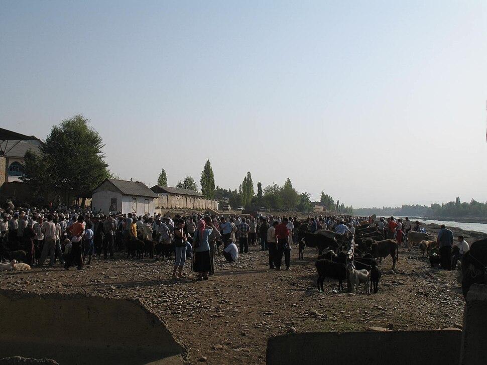 Animal market in Kyzyl-Jar