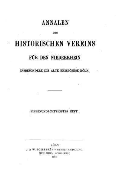 File:Annalen des Historischen Vereins für den Niederrhein 87 (1909).djvu