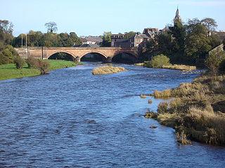 River Annan river in the United Kingdom