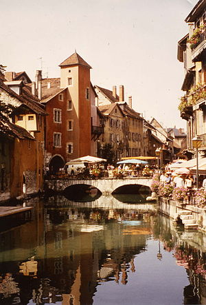Old part of Annecy (France)