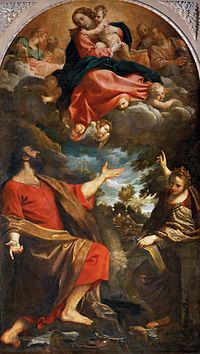 Annibale Carracci - The Virgin Appears to Sts Luke and Catherine - WGA4431.jpg
