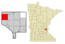 Location of the city of Nowthenwithin Anoka County, Minnesota