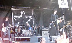 Anti-Flag auf der Vans Warped Tour 2012.