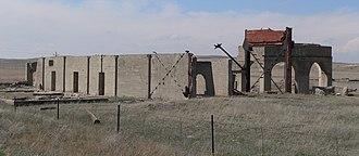 Antioch, Nebraska - Ruins of potash plant near Antioch